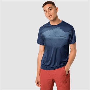 Jack Wolfskin Peak Graphic Erkek Outdoor T-shirt