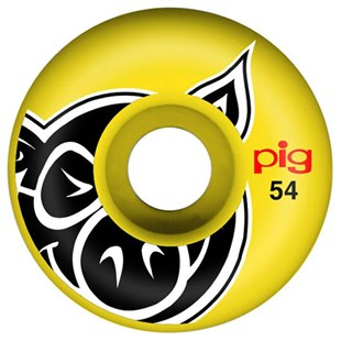 Pig Head Yellow Tekerlek Seti 54 mm