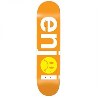 Enjoi 8,125 Frowny Face No Brainer HYB Orange Deck Kaykay Tahtası