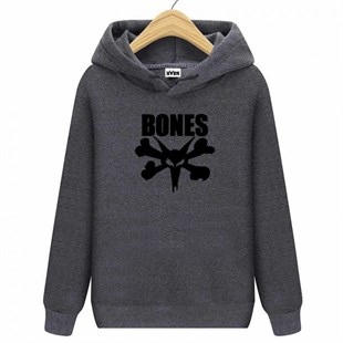 HORN SKATEBOARDS BONES SWEATSHIRT ANTHRACITE