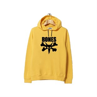 HORN SKATEBOARDS BONES SWEATSHIRT YELLOW