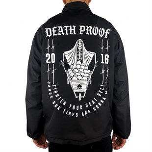 Mushroom Death Proof Coach Jacket Black