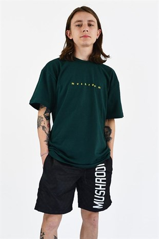 MUSHROOM Logo Embroidered Green